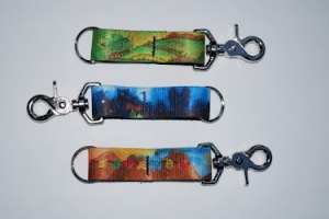 Outside Dog Artwears Keychains