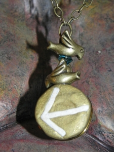 Rune Necklace 'Tiwaz' Symbol