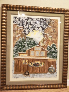 framed 'The Cabin' Original