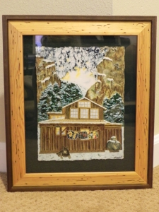 framed 'The Cabin' print