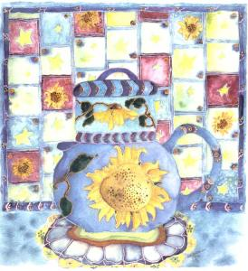 Teapot and Quilt